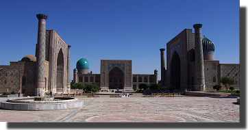 The Registan in Samarkand, Uzbekistan. (Photo from 2002)